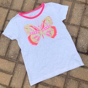 Anthropologie Mini Boden Butterfly White T-Shirt